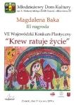 """VII Wojewódzki Konkurs Plastyczny dla dzieci i młodzieży pod nazwą """"Krew ratuje życie"""" – MDK w Zamościu."""