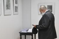 Wernisaż wystawy grafiki Zbigniewa Pieleszka