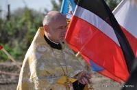 Uroczystości przy krzyżu prawosławnym